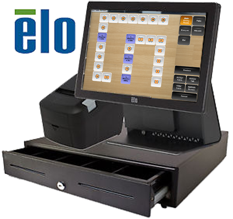 Elo, Paypoint Electronic Cash Register, Cash Drawer, Cc Reader, Receipt  Printer, Barcode Scanner, Customer Display For Apple Ipad Aldelo Touch